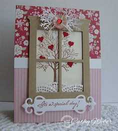 Winter, Through the Window #card by Cathy Weber #papercrafting #scrapbooking
