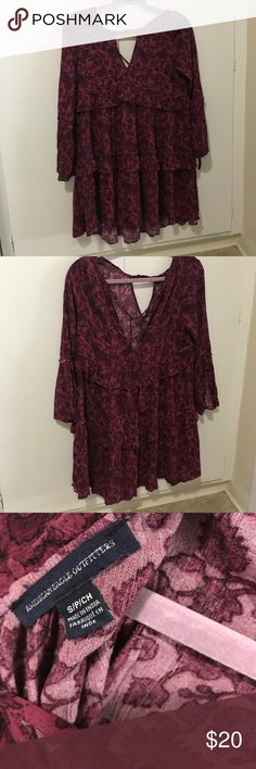 American eagle dress Never worn (without tags) American Eagle Dress - perfect for fall, would be super cute with boots and tights American Eagle Outfitters Dresses Long Sleeve