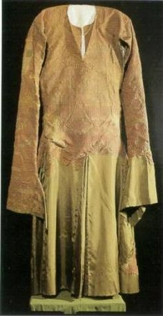 Tunic of Don Garcia who died in ca 1145 is made of silk and decorated with gold thread. Parochial Church Ona, Burgos