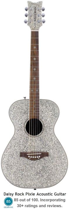 The Daisy Rock Pixie Acoustic Guitar is a full scale instrument designed especially for girls.