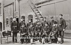 inch Canvas Print (other products available) - Uniformed men of the Leeds Union Fire Brigade based at Leeds Workhouse posed with some of their equipment. Date: Date unknown - Image supplied by Mary Evans Prints Online - Box Canvas Print made in the USA Fine Art Prints, Canvas Prints, Framed Prints, West Yorkshire, Leeds, Poster Size Prints, Photo Puzzle, Online Printing, Digital Prints