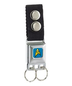 Look what I found on #zulily! Blue Starfleet Logo Seatbelt Key Chain #zulilyfinds