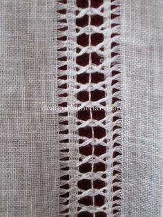 Linen curtain Hemstitched a pair Sheer linen by linenartisan