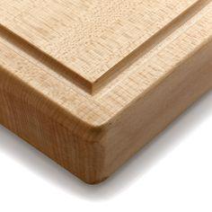 Manufactum - Mit einer umlaufenden Saftrille. Sauber gearbeitet und mit einer Materialstärke von 4 cm ein ordentlich schweres... - Schneidbrett Bergahornholz