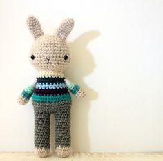 toy crochet doll bunny rabbit boy amigurumi plushie .. little peter