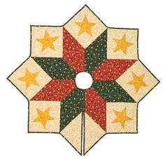 Jolly Santa Quilted Christmas Tree Skirt 54    Christmas Tree ... : quilted christmas tree skirt kits - Adamdwight.com