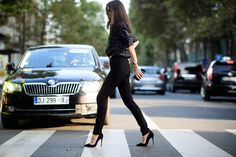 On the Streets of Paris Fashion Week Spring 2015 - Paris Fashion Week Spring 2015 Day 1-Wmag
