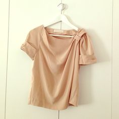 Cacharel blouse Half sleeve short silk blouse. Brand new cacharel  Tops Blouses
