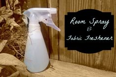 "Make your own air and fabric spray. Did you know Glade air fresheners have a warning to ""remove person to fresh air"" if the product is inhaled?! This DIY spray is safe to use and smell's delicious!"