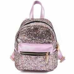 Bling Bling Sequin Mini Backpacks for Teenage Girls New Quality PU Leather Korean Mochilas Feminina Travel sac a dos Mini Backpack Purse, Sequin Backpack, Small Backpack, Black Backpack, Backpack 2017, School Bags For Girls, Girls Bags, Ladies Bags, Leather Crossbody Bag