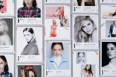 Brand identity and model cards by graphic design studio Mucho for…