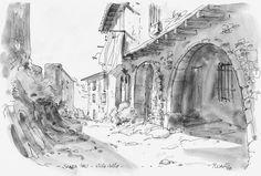 Urban Sketchers Spain. El mundo dibujo a dibujo.: Santa Pau 1978 - La Garrotxa