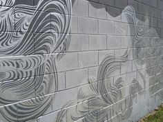 some of the best random cinder block wall painting I have seen.