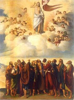 Ascension Day is about Glorifying Jesus for no other reason but that He is the Son Of God and is Seated at the right hand of the Father. Description from deanlbailey.wordpress.com. I searched for this on bing.com/images