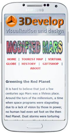 Modified Mars is now responsive so the website should look good on your mobile phone, tablet or any other device. Virtual Globe, Tourist Map, Red Planet, The Martian, Mars, Planets, I Shop, Website, Phone