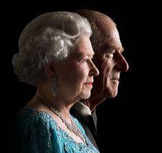 The Queen & Duke of Edinburgh Golden Jubilee Hm The Queen, Her Majesty The Queen, Royal Photography, Portrait Photography, Queen Pictures, Isabel Ii, Prince Phillip, Elisabeth, Queen Mother
