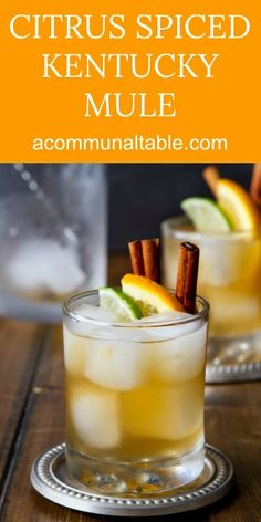 A must-try cocktail! Bourbon, ginger beer, orange and warming spices give this easy Citrus and Spice Kentucky Mule easy cocktail recipe a bit of a kick! A delicious drink recipe! #drinkrecipes #cocktail #cocktailrecipes