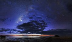 """Night Hides the World October 16 2015 via NASA Stars come out as evening twilight fades in this serene skyscape following the Persian proverb """"Night hides the world but reveals a universe."""" The scene finds the Sun setting over northern Kenya and the night will soon hide the shores of Lake Turkana home to many Nile crocodiles. The region is also known for its abundance of hominid fossils. On that past November night a brilliant Venus then the world's evening star dominates the starry skies…"""