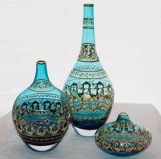 glaskunst – glass art – Home Decor Turkish Decor, Turkish Art, Antique Perfume Bottles, Vintage Bottles, Perfume Tom Ford, Perfume Ariana Grande, The Body Shop, Good Morning Flowers, Altered Bottles