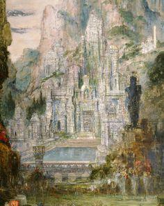 """Gustave Moreau, """"Le Triomphe d'Alexandre le Grand"""", détail, huile sur toile, Paris, musée Gustave Moreau, Cat. 70"""
