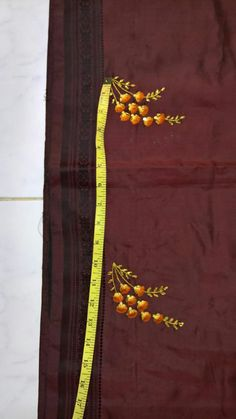 New Embroidery Designs, Kurti Embroidery Design, Silk Ribbon Embroidery, Embroidery Dress, Embroidery Stitches, Embroidery Patterns, Hand Embroidery, Embroidery Suits Punjabi, Embroidery On Kurtis