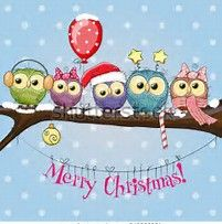 Image Result For Christmas Owls Wallpaper Christmas Owls Christmas Photo Cards Merry Little Christmas