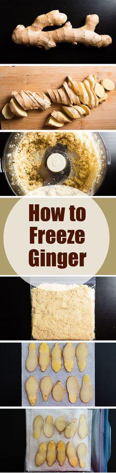 How to Freeze Ginger | omnivorescookbook.com