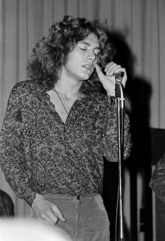Robert Plant of Led Zeppelin performs on stage at Gladsaxe Teen Club on March…