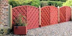 Lovely coloured fencing