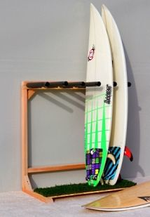 Self Standing Surfboard Racks by Epic Surf Racks. (To eliminate the need for a ladder when getting my boards done from the ceiling rack.)