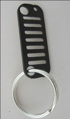 All Things Jeep - Jeep Key Chain: Jeep JK Grille