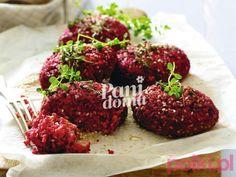Kotlety z buraka z kuskusem -Przepis Tandoori Chicken, Grain Free, A Food, Vegetarian, Beef, Vegan, Ethnic Recipes, Cbr, Drink