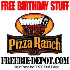 FREE BIRTHDAY STUFF – Pizza Ranch - FREE $5 BDay Reward