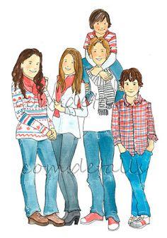 Ilustracin de dos hermanas  Dibujos de Familias  Pinterest