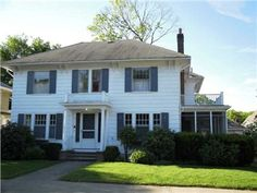14 Lafayette St, Pawtucket, RI 02860 — Gracious 4 bed 2.5 bath Colonial with refinished hardwoods, central a/c, fresh interior paint. Lge living room w FP, dining room, eat in kitchen, family room. Master suite with porch, loads of storage! Heated lower level rec room, yard  garage.
