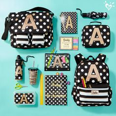 Spotted: school supplies that shimmer with cool glittery detail and awesome back-to-school style.