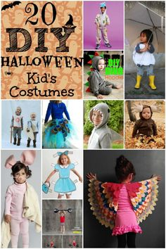20 DIY Halloween Kid's Costumes via Life With The Crust Cut Off