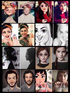 Brazilian artist Julio Cesar turns photos of random peaople into fun illustrations - 9GAG