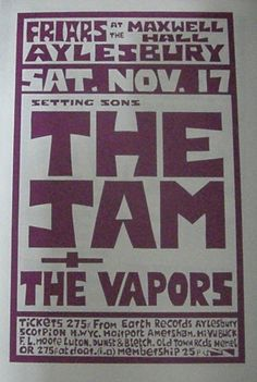 Rock Posters, Band Posters, Music Posters, Concert Flyer, Concert Posters, Internet Music, 70s Punk, New Flyer, Paul Weller