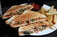 Grilled Pizza Sandwich Recipe - Kids Friendly Sandwich Recipes - Yummy Tummy