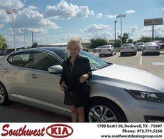 Southwest KIA of Rockwall would like to wish a Happy Anniversary to Mary Hurt on your 2013 Kia Optima