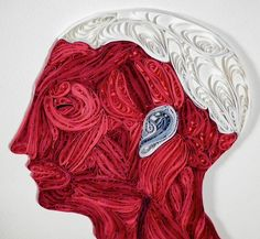 Artist Sarah Yakawonis creates beautiful quilled paper art of human anatomy. Her work is available on Etsy and via All Things Paper & Colossal Uses Of Paper, Biology Art, Anatomy Art, Human Anatomy, Quilled Paper Art, Quilling Designs, Prismacolor, Tag Art, Art