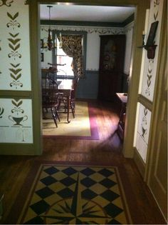 Entryway! Compass Rose Floorcloth!