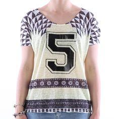 T-shirt devorè ampia Eks donna - € 17,90 | Nico.it - #fashionista #nicoit #nicoabbigliamentocalzature #fashion #nuoviarrivi #newarrivals #newcollection #nuovacollezione #bestoftheday #outfit #outfitoftheday #spring #springsummer #summer #ss15 #2015