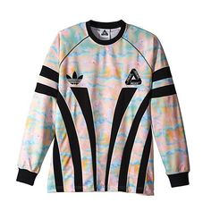 Palace x Adidas Graphic Goalie Shirt in Multi Colour Black Dope Outfits, Simple Outfits, Adidas Trefoil Hoodie, Mode Vintage, Sportswear Brand, Hoodie Jacket, Mens Sweatshirts, Swagg, Street Wear