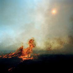 Leaping Flames, Lyon County, Kansas, 2009. Larry Schwarm.