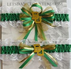 Baylor garters! Perfect for a Baylor wedding!