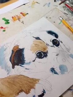 How to paint a dog portrait. Hopefully you are finding this interesting.