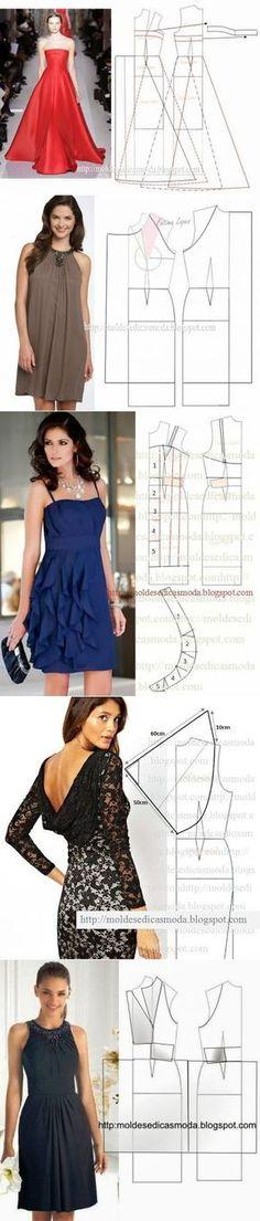 Огромная подборка'Платье+выкройка'