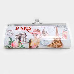 "Cute Le Paris Eiffel Tower Multicolor Chain Purse Clutch. Free shipping and guaranteed authenticity on Cute Le Paris Eiffel Tower Multicolor Chain Purse Clutch at Tradesy. Purse is 8"" wide x  2.8"" high x 1. 25"" diameter 1..."